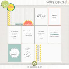 The Lilypad :: Journal Cards :: Words to Live By no.1 by Sara Gleason