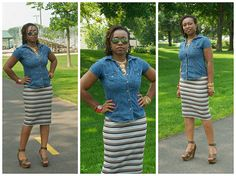 CocoZini » DIYs, Stylish Fashion Finds and More by BiKé » Sew This Simple Knit Pencil Skirt in less than 30min