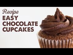 Recipe: Easy Chocolate Cupcakes   A Thousand Words - YouTube