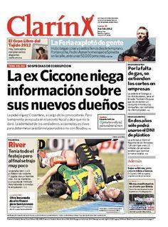 La ex Ciccone niega información sobre sus nuevos dueños. Más información: http://www.clarin.com/edicion-impresa/