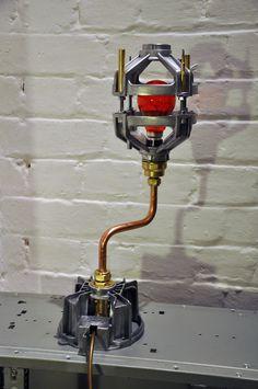 Sid lamp  Upcycled motor mounting