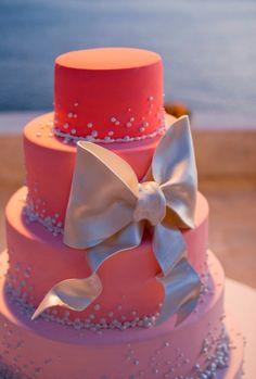Because girls love pink! Cake Decorating, Birthday Cake, Desserts, Pink, Wedding, Food, Girls, Design, Tailgate Desserts