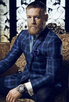 Connor McGregor hairstyle look Conor Mcgregor Suit, Mcgregor Suits, Connor Mcgregor, Sharp Dressed Man, Well Dressed Men, Suits Direct, Suit Combinations, Best Mens Fashion, Guy Fashion