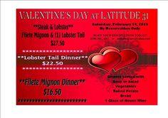 Especiales de San Valentin: 'Latitude 31' Restaurante (camino al Malecon) #Langosta