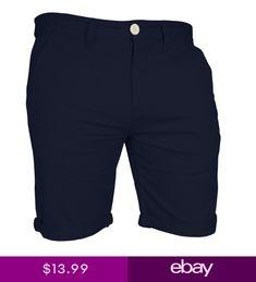 345479053bb Mens Chino Shorts Casual Cargo Combat Flat Front 100% Cotton Half Pant