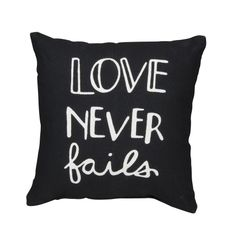 Love Never Fails Accent Pillow