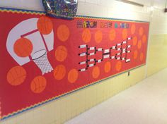 mental health bulletin board ideas | March Bulletin Board - March Math Madness
