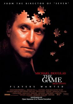 The Game is a 1997 American mystery thriller film directed by David Fincher, starring Michael Douglas and Sean Penn, and produced by Propaganda Films and PolyGr Sean Penn, Movies And Series, All Movies, Movies And Tv Shows, Film Movie, See Movie, David Fincher, Internet Movies, Movies Online