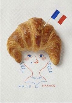 French Croissant Drawing