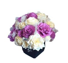 Orchid Peony and Rose CEnterpiece