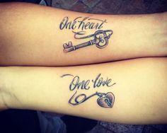 Tatuajes de parejas de amor con significado - http://www.tatuantes.com/tatuajes-parejas-amor-significado/ #tattoo