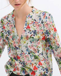 LONG PRINTED SHIRT from Zara - UGH look at this gorgeous gorgeous shirt!!!!