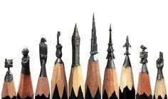 Amazing Miniature Pop-Culture Sculptures from Pencil Tips
