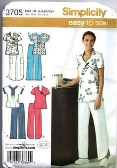 SALE 25 Off Simplicity 3705 scrubs pattern by QueensKnightSeven, $3.75