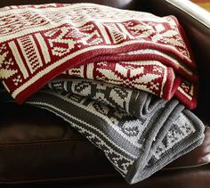 With the look of a vintage ski sweater and just the right warmth, our throw is the perfect layer for cooler weather.  http://rstyle.me/n/dtwzynyg6