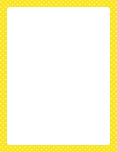 Printable yellow polka dot border. Free GIF, JPG, PDF, and PNG downloads at http://pageborders.org/download/yellow-polka-dot-border/. EPS and AI versions are also available.