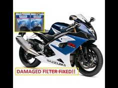 K5 Suzuki GSXR 1000 Oil Filter Change Dented Damaged Repair.