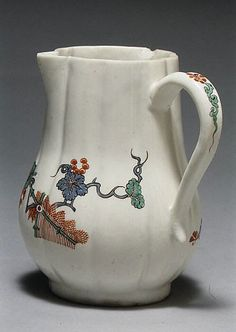Chantilly | Pitcher | French, Chantilly | The Met ca. 1730–35 Culture:French, Chantilly Medium:Tin-glazed soft-paste porcelain