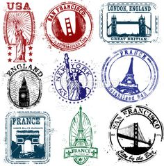 Travel stamp                                                                                                                                                     Más