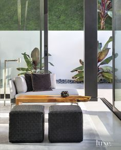 Modern Glass Sitting Area