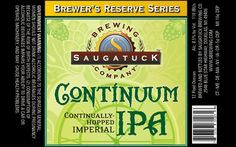 Continuum Continually Hopped Imperial IPA from Saugatuck Brewing.