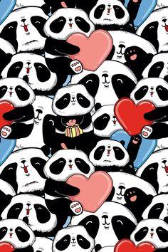 Wallpaper pandas 😍🐼❤️