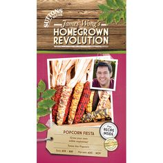Popcorn Fiesta Seeds - Suttons Seeds and Plants