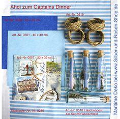 Papierservietten maritim - Silber-und-Rosen-Shop