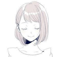anime short hair (stylized)