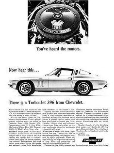 1965 Chevrolet Corvette Turbo-Jet 396 - Promotional Advertising Poster