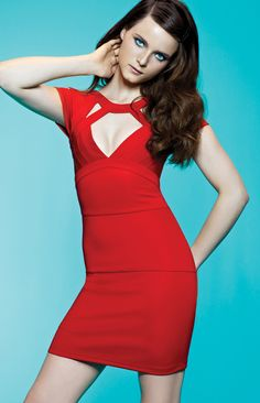 #MyImpulseIs Color! Red hot #guess #bodycon #dress #macys BUY NOW!