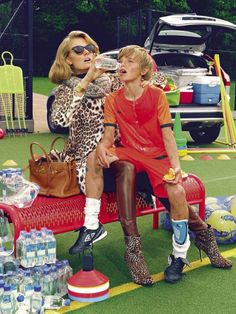 "Vogue Italia November 2012 ""A Perfect Mom"" by Miles Aldridge model Constance Jablonski Edited by Cathy Kasterine"