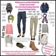 """Easy Peasy Make It Look Easy """"week away packing"""" New Wardrobe, Capsule Wardrobe, Cut And Style, Style Me, One Suitcase, Travel Capsule, Travel Packing, Dress Cuts, Easy Peasy"""