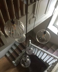 Clear Glass Staged Cluster Chandelier with 9 Globe Pendant Ceiling Light, Hereford Retro & Contemporary Design Led Hallway Lighting, Home Office Lighting, Living Room Lighting, Pendant Lighting, Stairwell Chandelier, Hallway Ceiling Lights, Ceiling Lighting, Pendant Chandelier, Kitchen Lighting