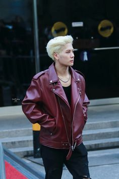 Only Jackson could work a boss leather jacket like this! He looks amazing!