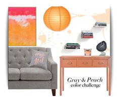 """""""Gray and Peach"""" by teodorastevic ❤ liked on Polyvore featuring interior, interiors, interior design, home, home decor, interior decorating, Safavieh, Dorel Asia, Umbra and Yankee Candle"""