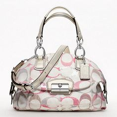 KRISTIN EMBELLISHED SIGNATURE DOMED SATCHEL