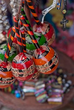 Artisan-made maracas in Labadee.
