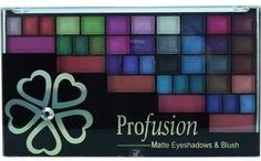 5. Profusion 49 Color Matte Eye Shadow and Blush Palette - 7 Super Affordable Eye Shadow Palettes You'll Love ... → Makeup