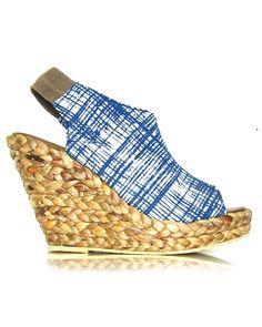 Fair Trade Grid Kantor Wedge Sandals
