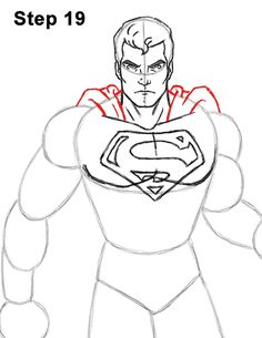 Superman Body Drawing 19 Superman Hair, Superman Drawing, Superman Symbol, Superman Costumes, Body Tutorial, Draw Two, Favorite Cartoon Character, Weird Shapes, Body Drawing