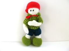 The boy in red baseball cup  Crochet doll  Original by AmayArt, $39.00