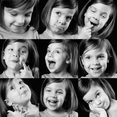 Childrens Facial Expressions - There are so many facial expressions, so you have to judge what would suit best for the moment you are capturing. Human Reference, Animation Reference, Photo Reference, Drawing Reference, Character Expressions, Drawing Expressions, Character Poses, Face Study, Poses References