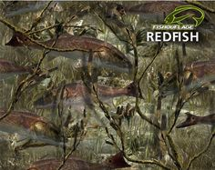 OVERWRAPS - Camouflage Coverings. Fishouflage - Redfish Pattern.