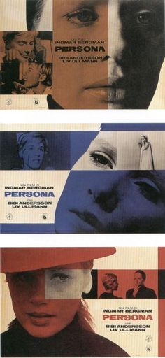 Persona - um dos melhores filmes que já vi. Belo poster!