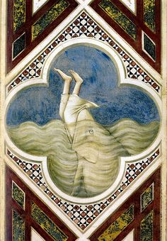 Giotto di Bondone, Jonah in the fish's mouth, 1337