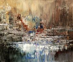 "Saatchi Art Artist Tatiana Iliina; Painting, ""WHITEWATER MOMENT"" #art"