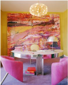 Kelly Wearstler Design Studio ..Pink and yellow are so happy together.♥♥♥