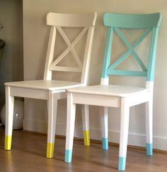 Repeindre une chaise pour une deuxième vie