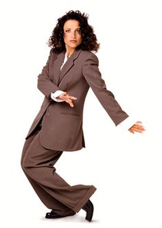 Elaine from #Seinfeld: A menswear fashion icon!-----She's my FAVE!